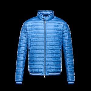 Auth Moncler blue down jacket size 1